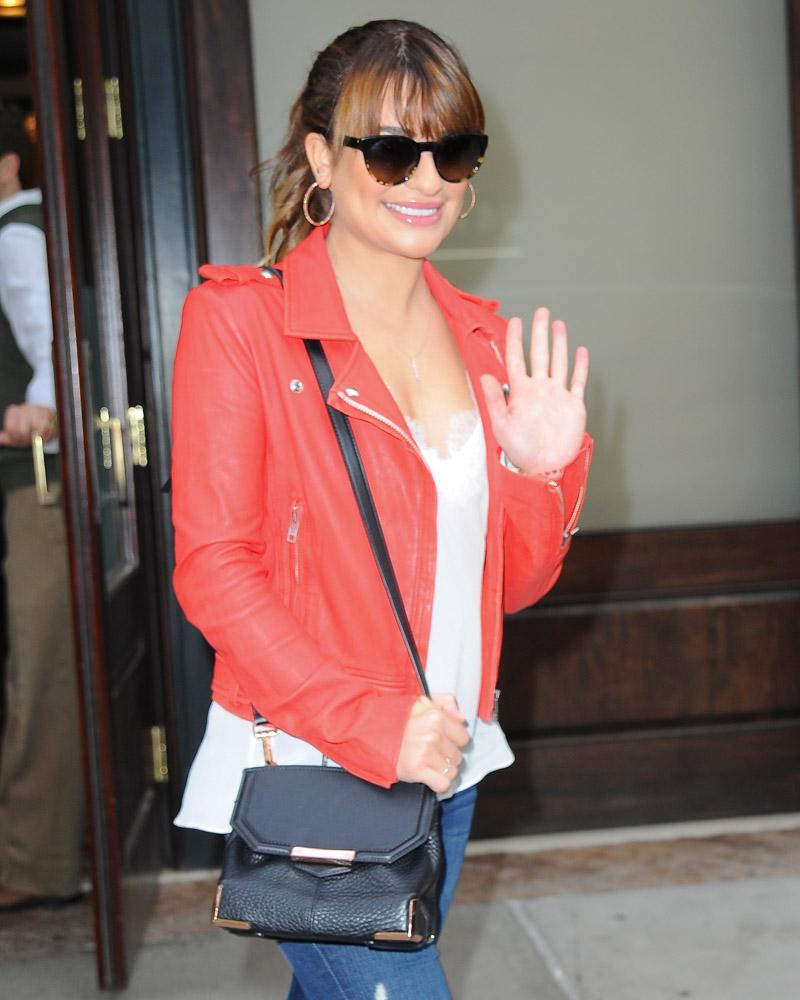 Lea Michele Alexander Wang Marion Bag-1