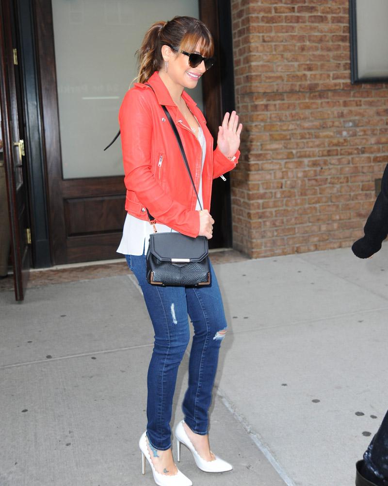 Lea Michele Alexander Wang Marion Bag-2