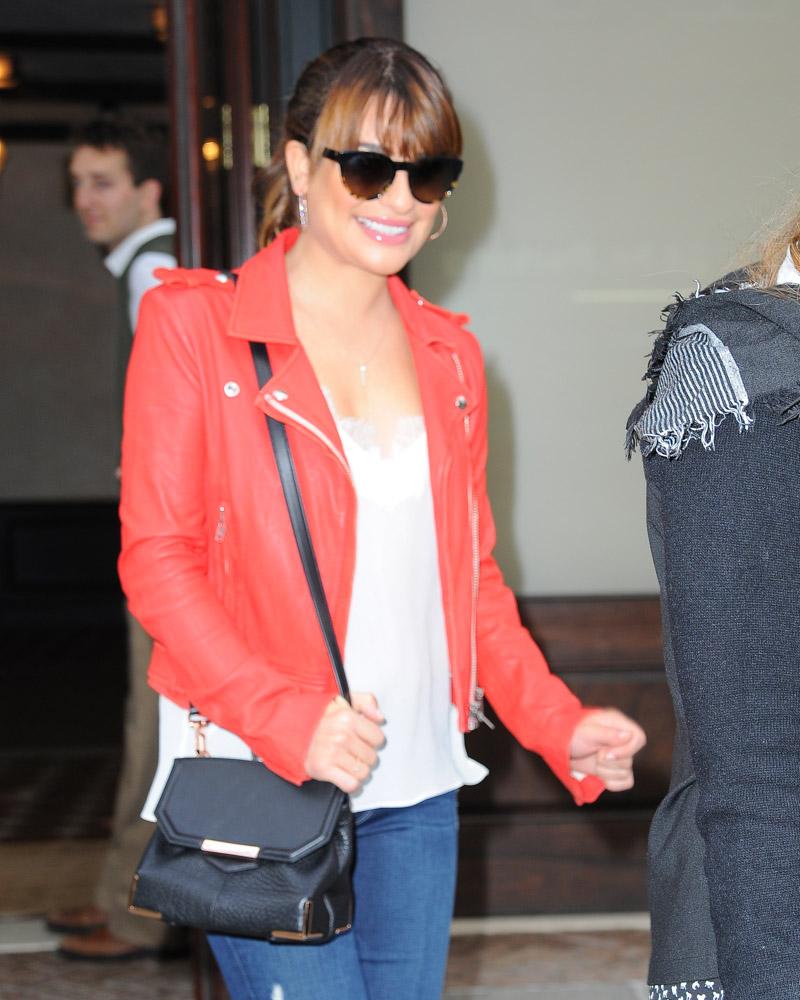 Lea Michele Alexander Wang Marion Bag-3