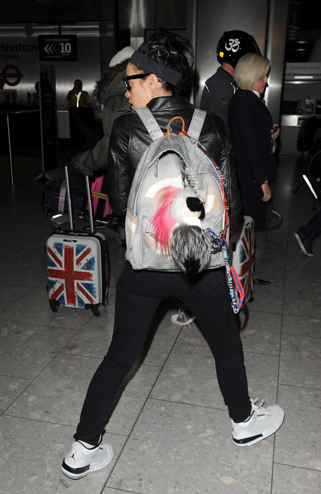 Lily Allen Chanel Graffiti Backpack-4