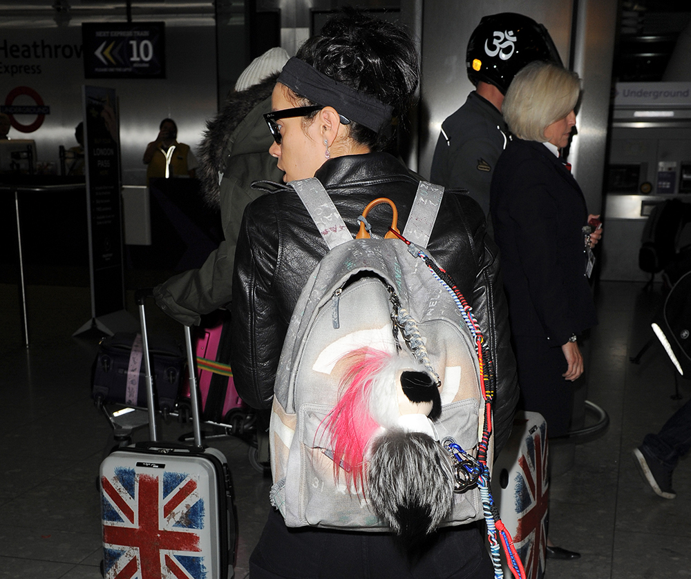 Lily Allen Chanel Graffiti Backpack
