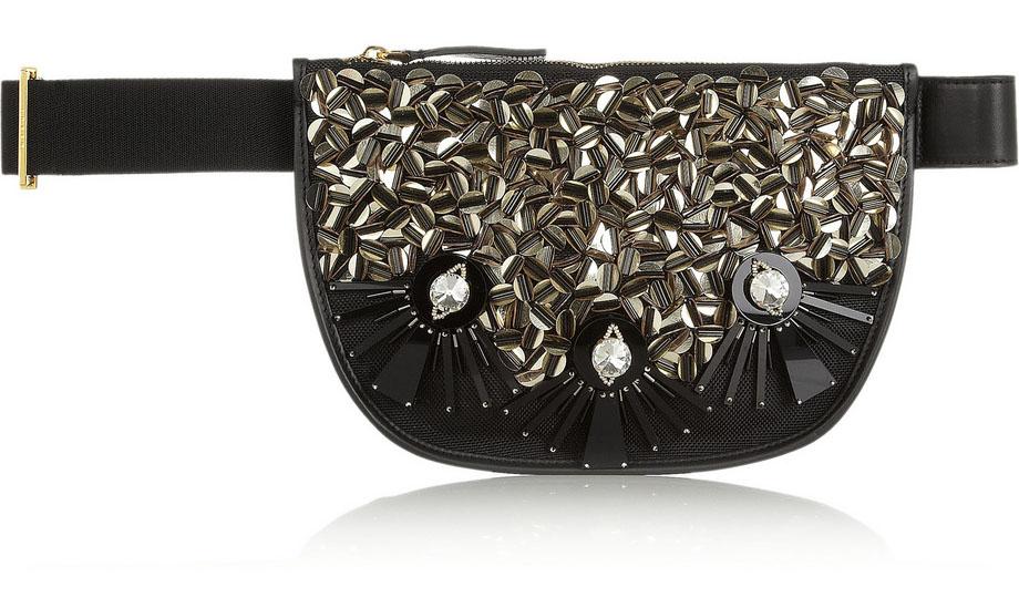 Marni Embellished Mesh Belt Bag