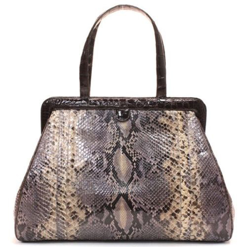 Nancy Gonzalez Python and Crocodile Satchel
