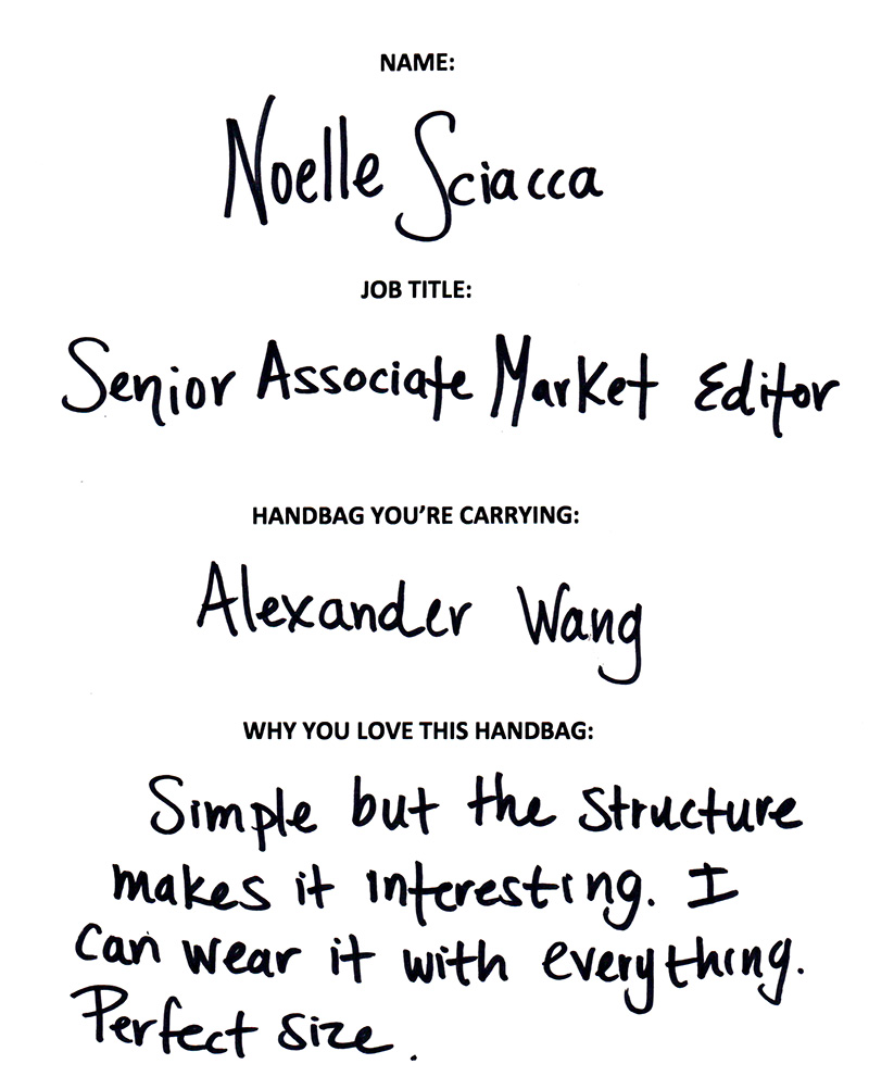 Noelle Sciacca Alexander Wang Answers