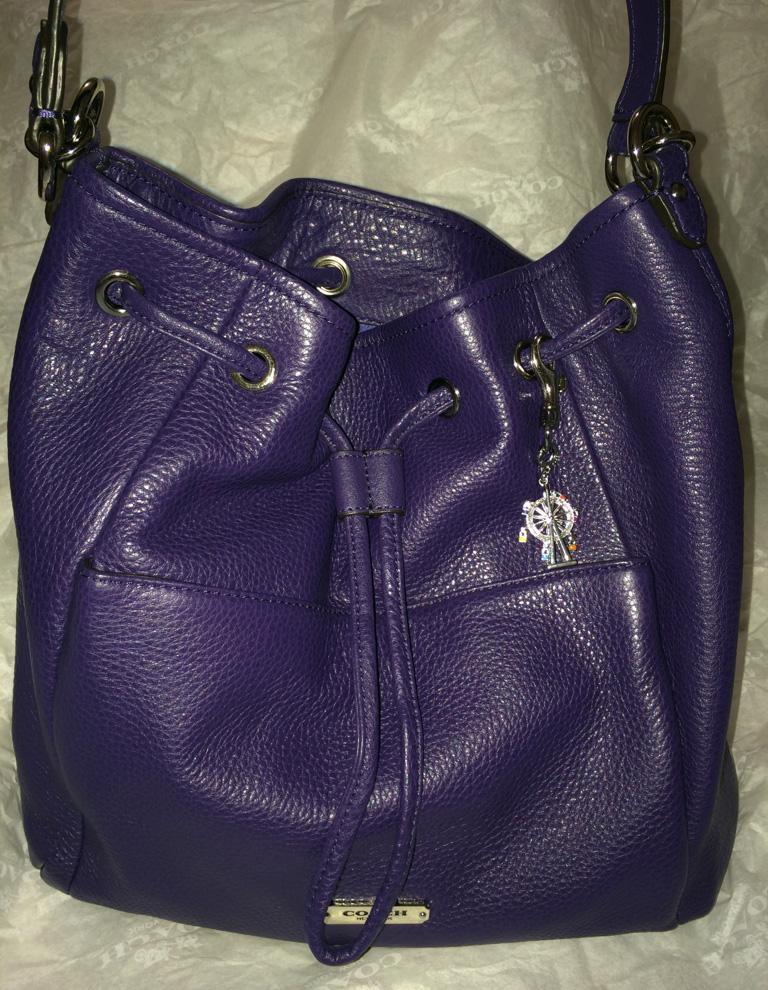 Purple Coach Bag