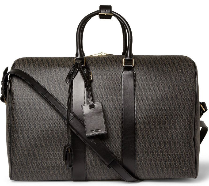 Saint Laurent Coated Canvas Holdall Bag