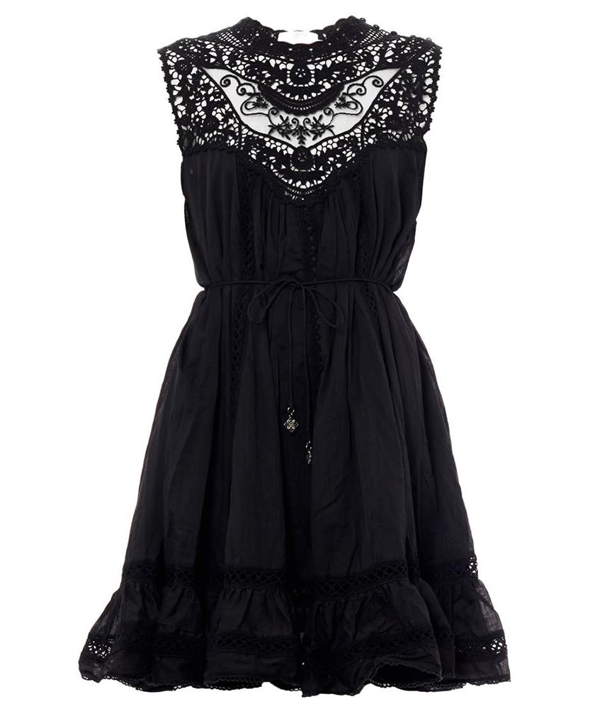 Zimmerman Filigree Lace Bib Dress