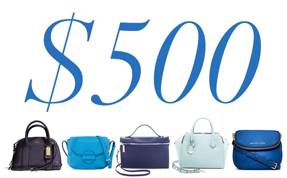 5 Under 500 Blue Bags