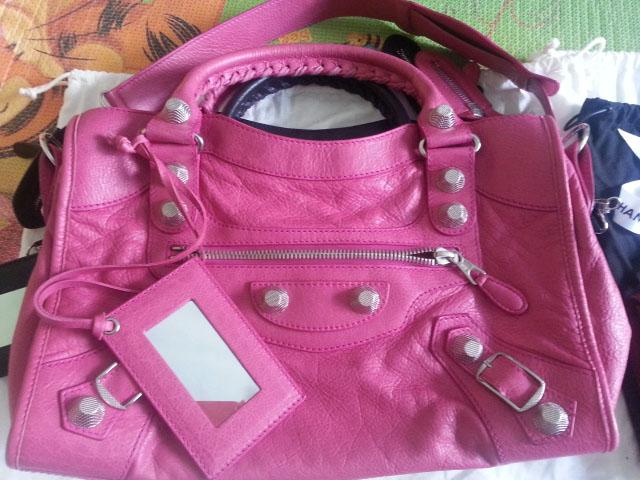 Balenciaga Pink City Bag