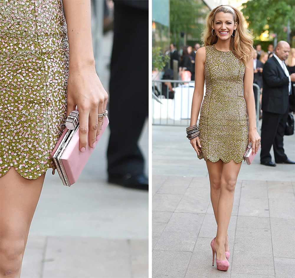 Blake Lively Judith Leiber Couture Lupita Clutch