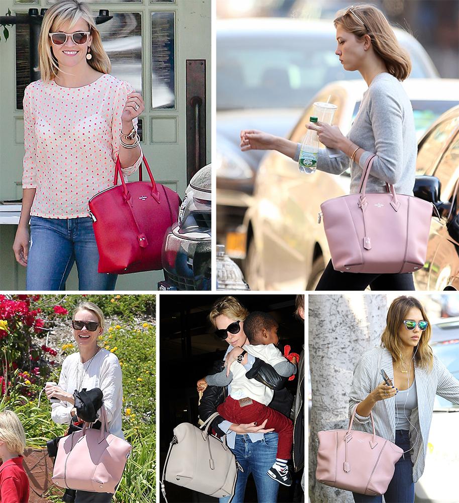 Celebrities Louis Vuitton Soft Lockit Bag