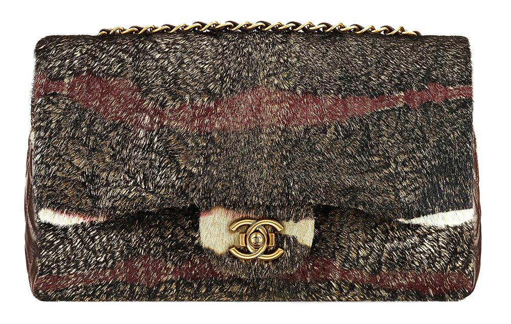 Chanel Calf Hair Flap Bag