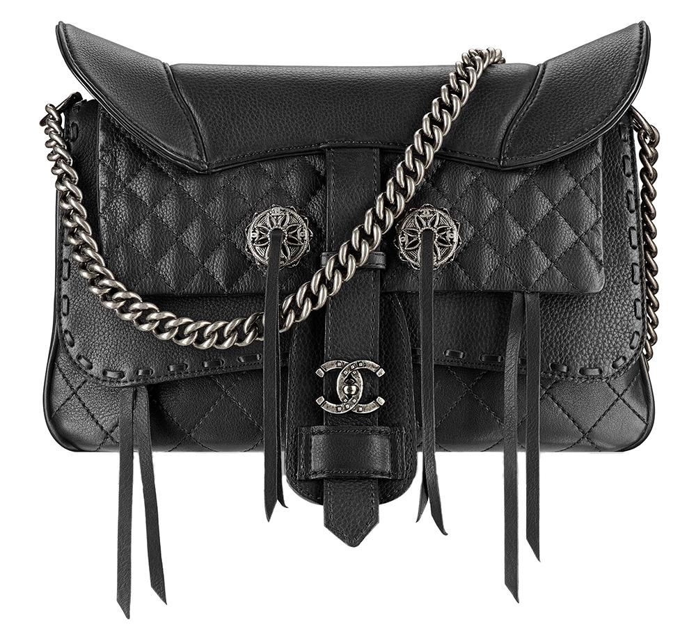 Chanel Fringe Saddle Flap Bag