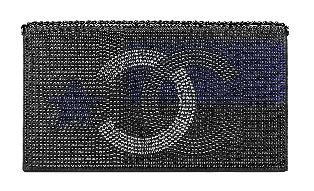 Chanel Metallized Minaudiere with Strass