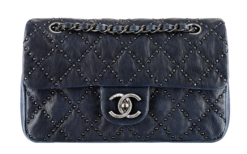 Chanel Small Studded Quilt Flap Bag