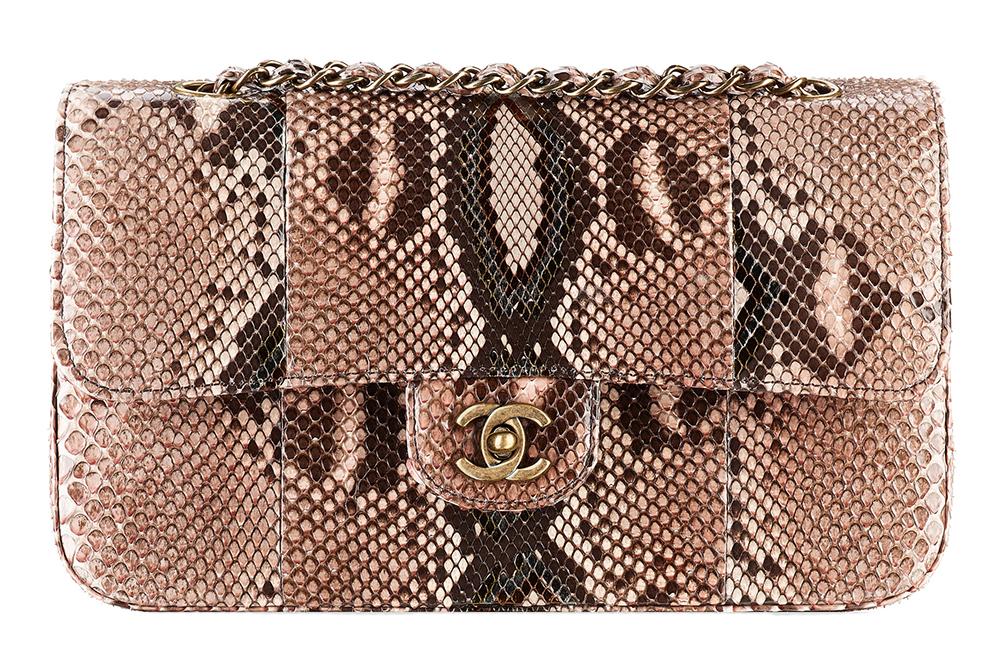 Chanel Snakeskin Classic Flap Bag