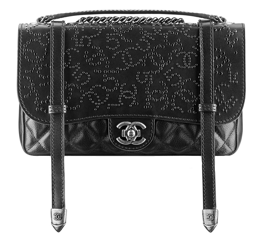 Chanel Studded Calfskin Flap Bag