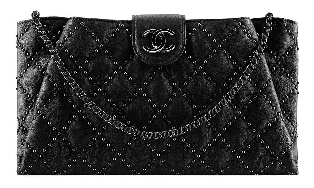 Chanel Studded Lambskin Clutch