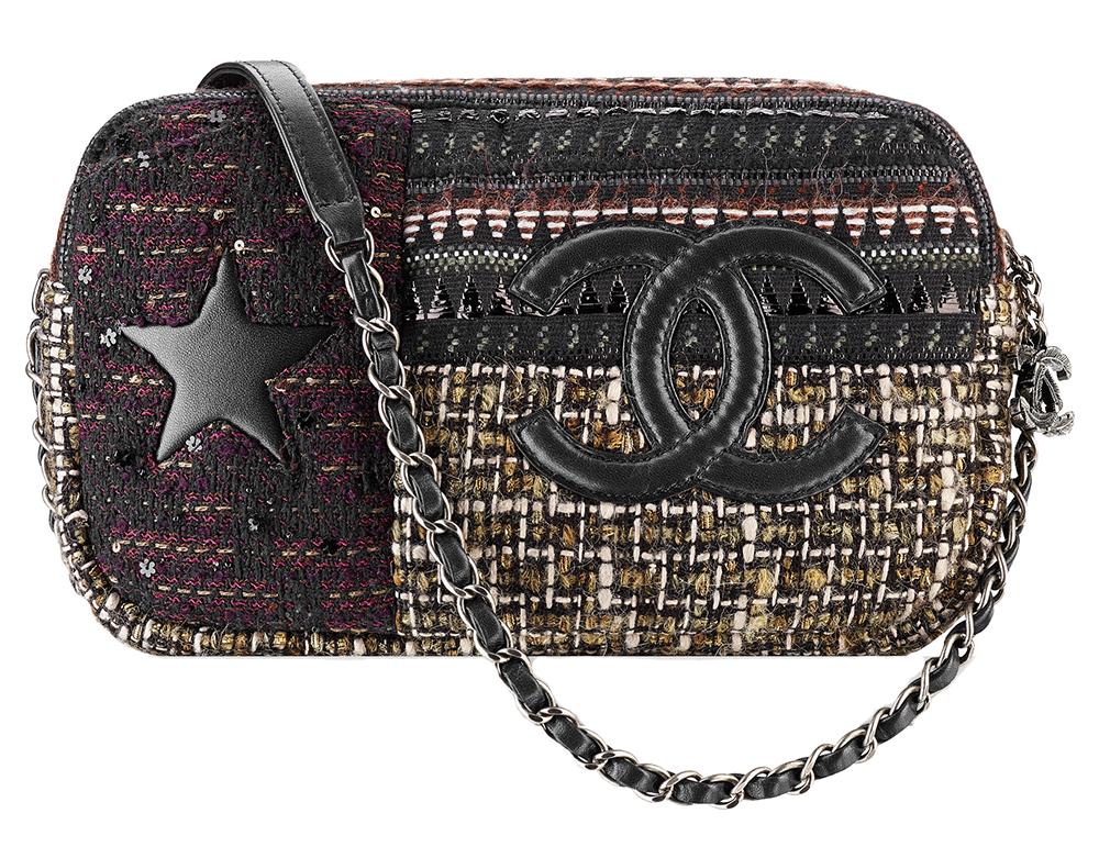 Chanel Tweed Camera Case