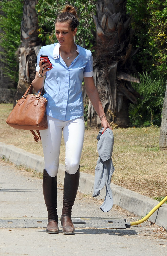 Charlotte Casiraghi Leaves An Equestrian Event With A