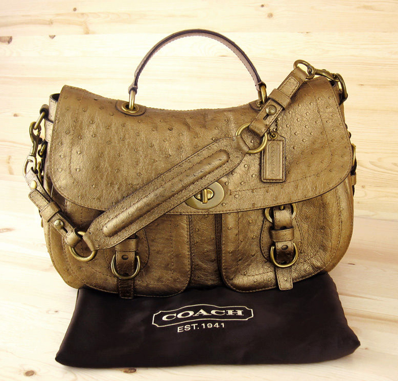 Coach Ostrich Convertible Satchel