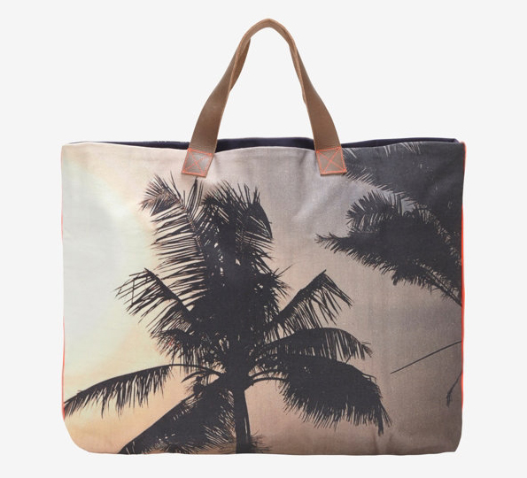 Dezso Palm Tree Print Canvas Tote