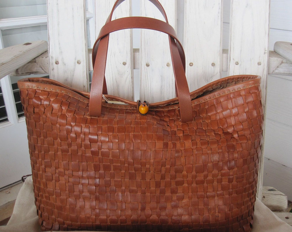 Henry Cuir Woven Tote