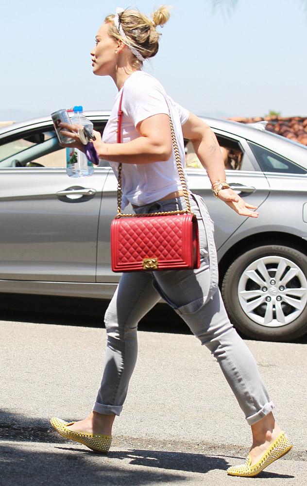 Hilary Duff Chanel Boy Bag-1
