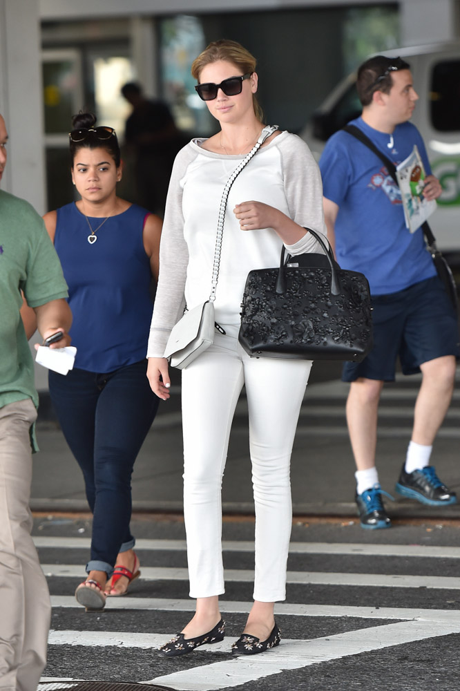 Kate Upton Dior Bar Bag Rag and Bone Enfield Mini Bag-2