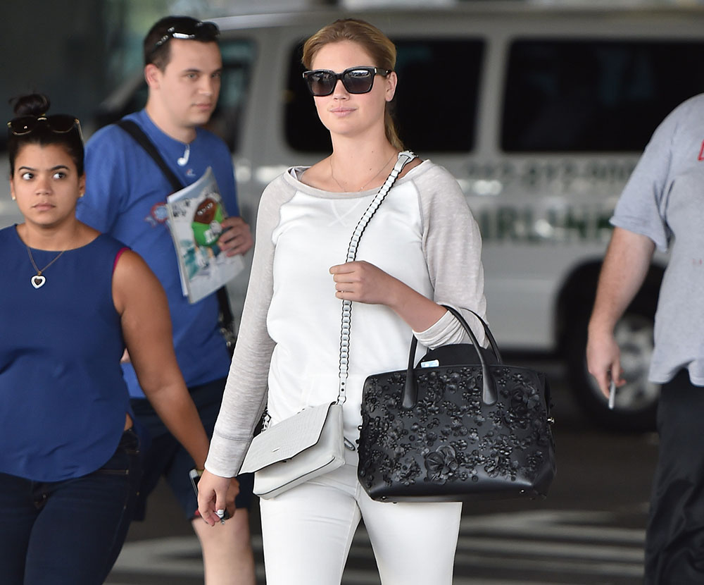 Kate Upton Dior Bar Bag Rag and Bone Enfield Mini Shoulder Bag