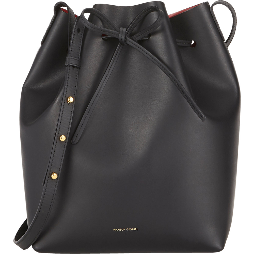 Mansur Gavriel Bucket Bag Black Flamma