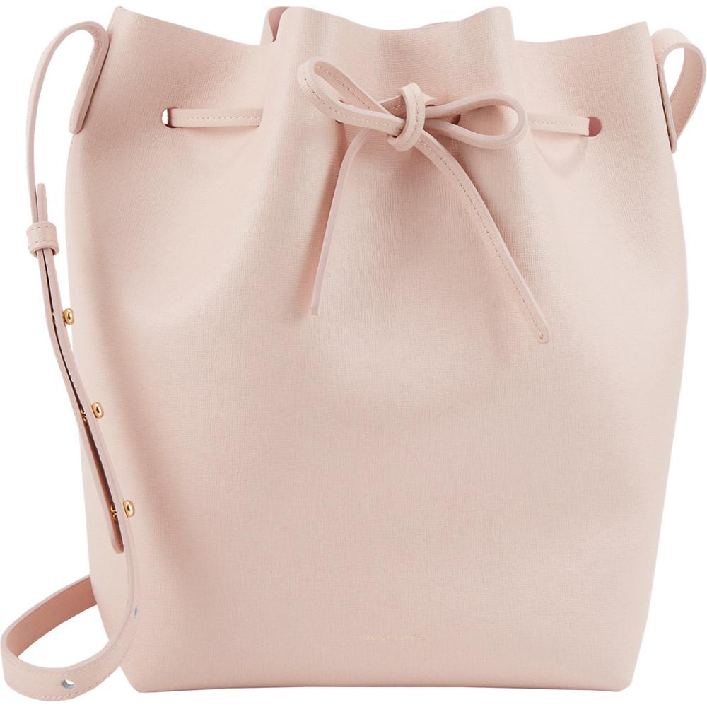Mansur Gavriel Large Rosa Saffiano Bucket Bag