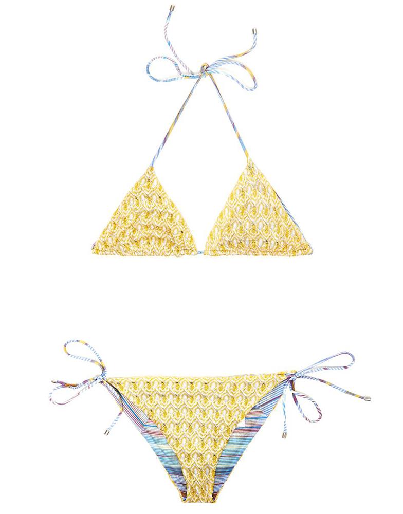 Missoni Mare Diamatino-Knit Reversible Bikini