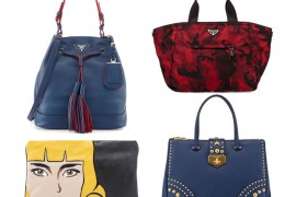 Prada Pre-Fall 2014 Includes More Faces, Color-Lined Bucket Bags