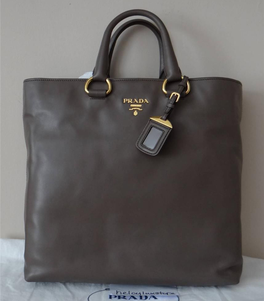 Prada Soft Calf Shopper Tote