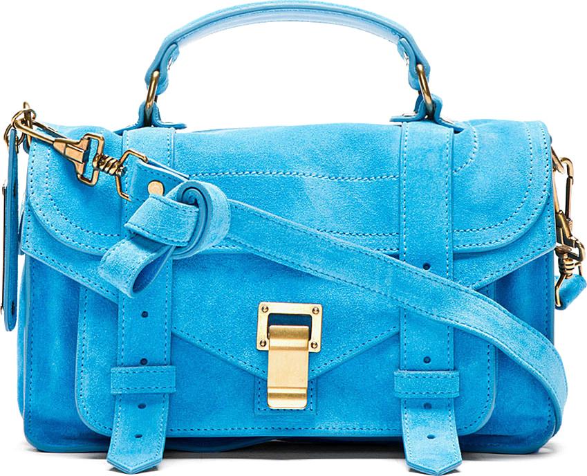 Proenza Schouler Tiny PS1 Suede Bag