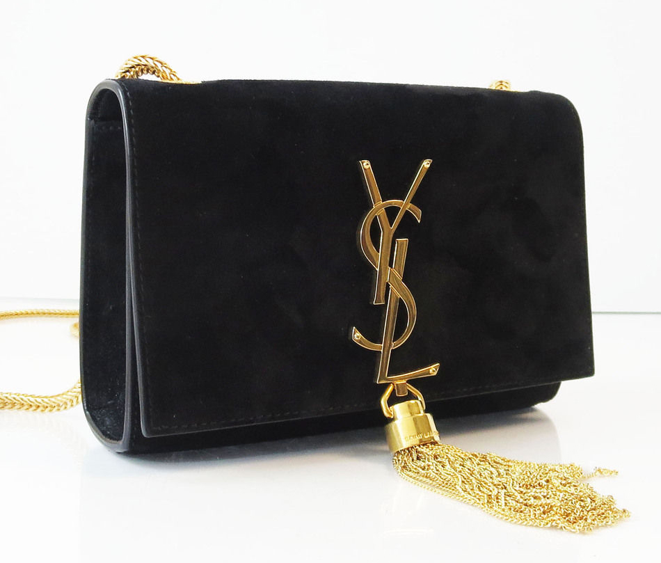 Saint Laurent Cassandre Suede Evening Bag