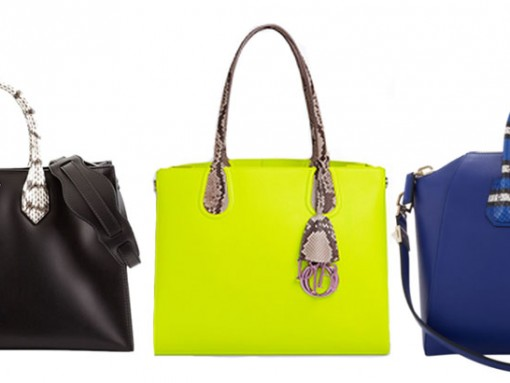 Snakeskin Handle Handbags