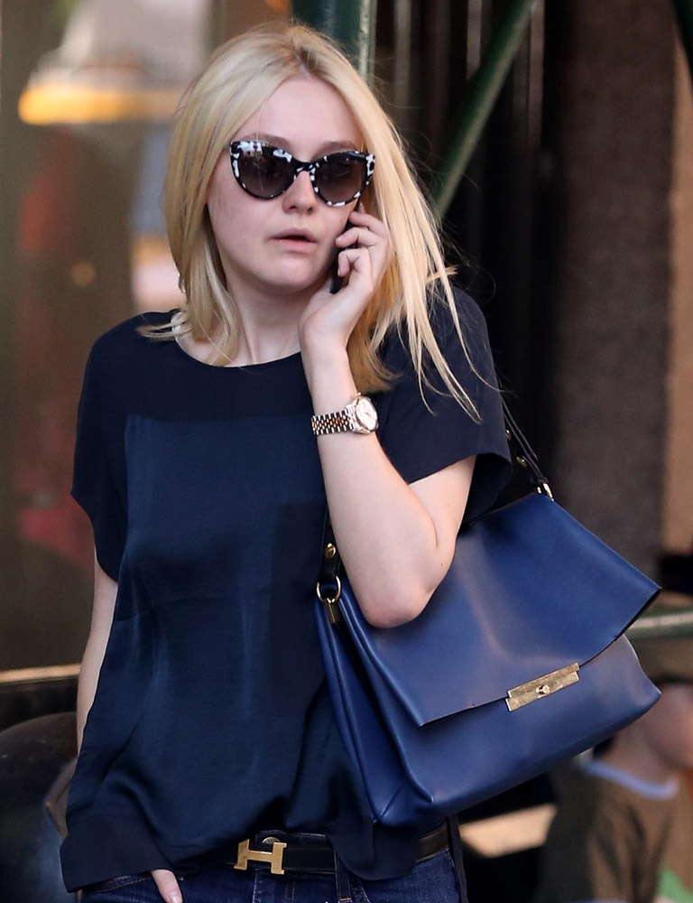 The Many Bags of Dakota and Elle Fanning-16