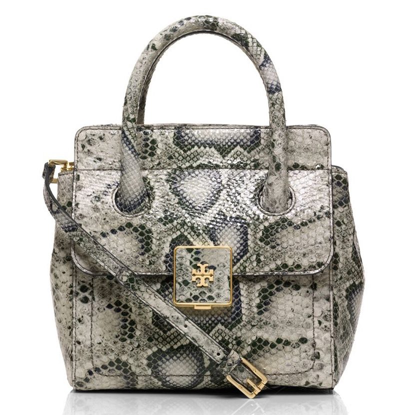Tory Burch Clara Snake Small Tote