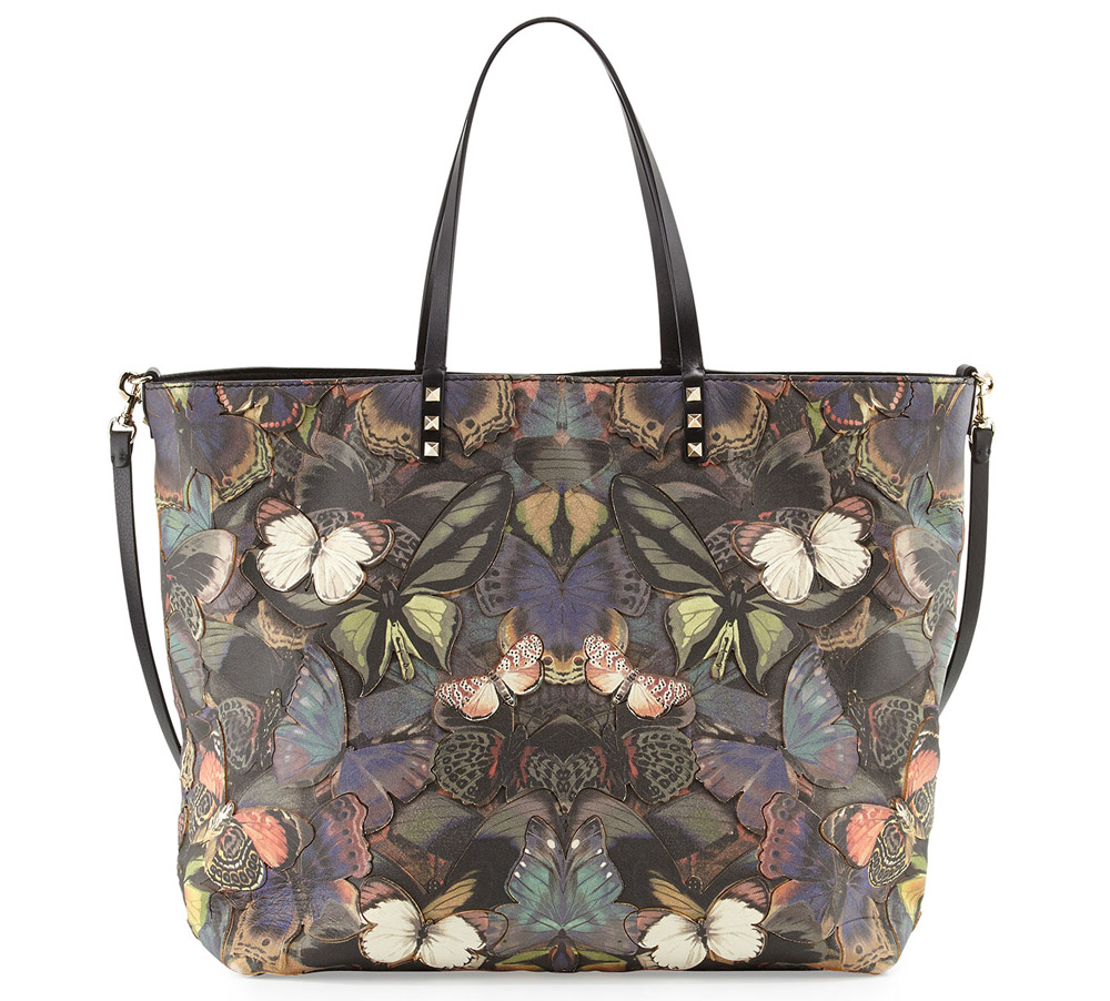 Valentino Butterfly Camouflage Easy Tote