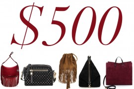 5 Under $500: Fall-Perfect Suede Bags