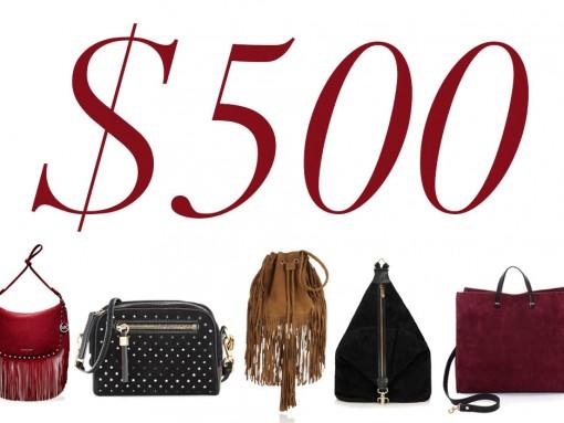 5 Under 500 Suede Bags No Line