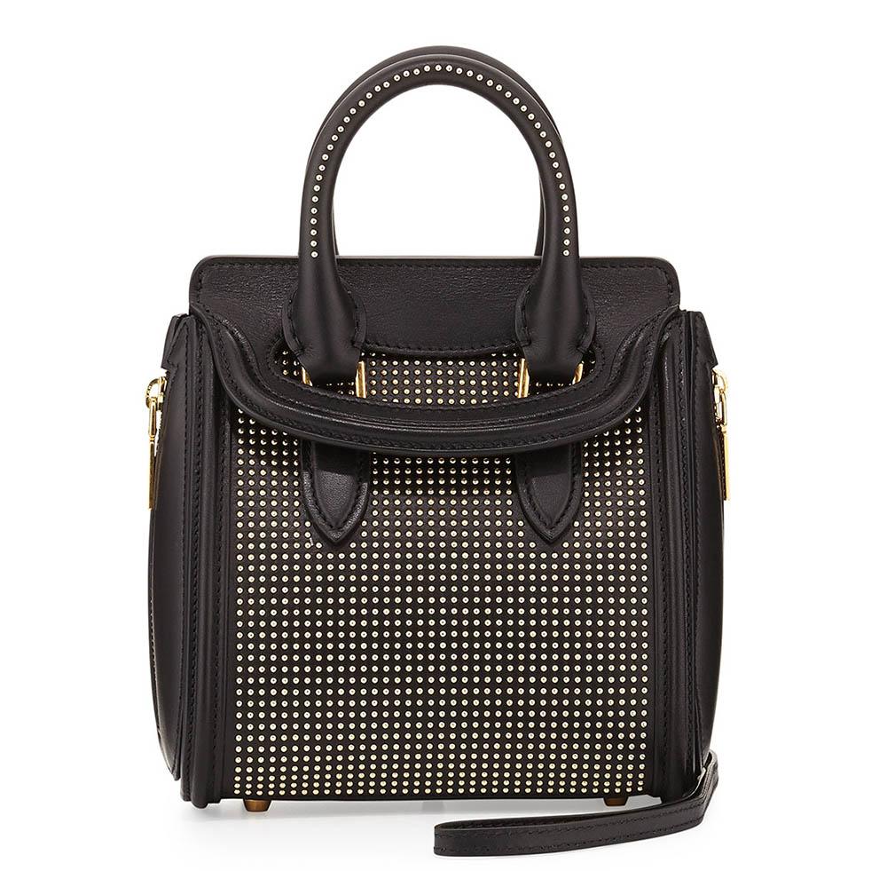 Alexander McQueen Mini Heroine Studded Bag