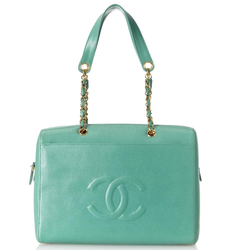 CHANEL Caviar Carryall Jade