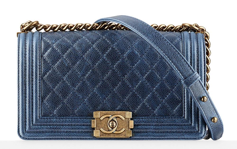 Chanel Boy Bag Blue 4200