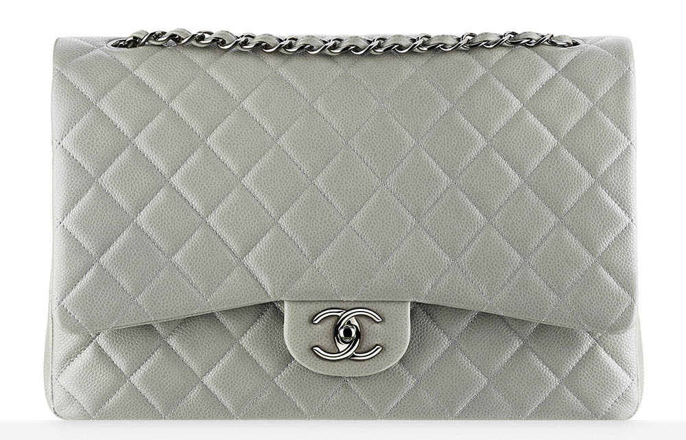 Chanel Classic Flap Bag Large Grey 6000