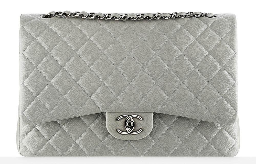 Chanel Classic Flap Bag Large Grey 6000