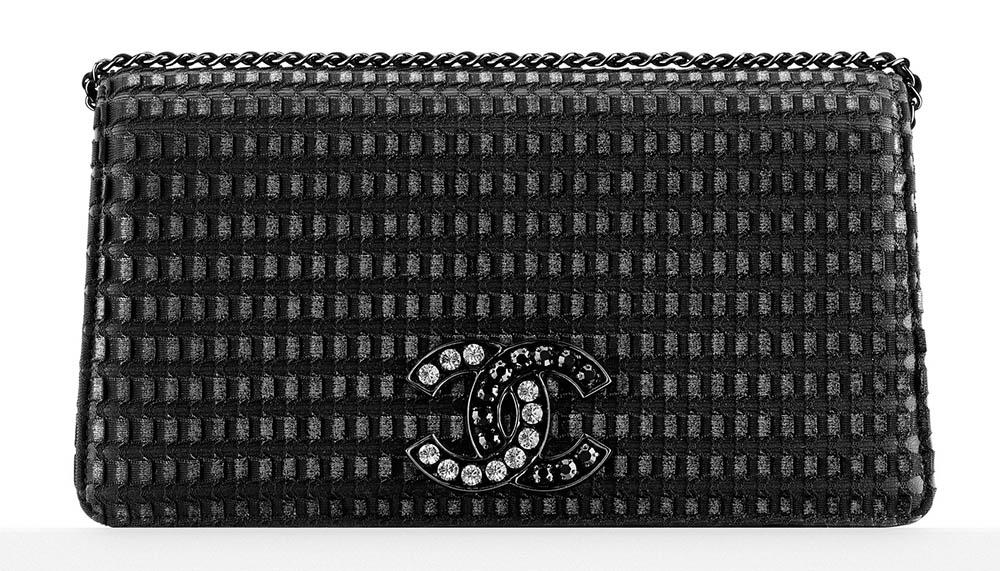 Chanel Embellished Logo Evening Bag 3600