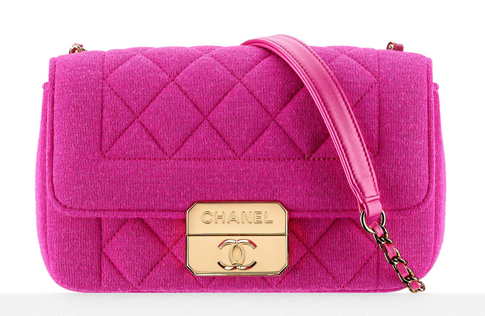 Chanel Jersey Flap Bag Pink 2900